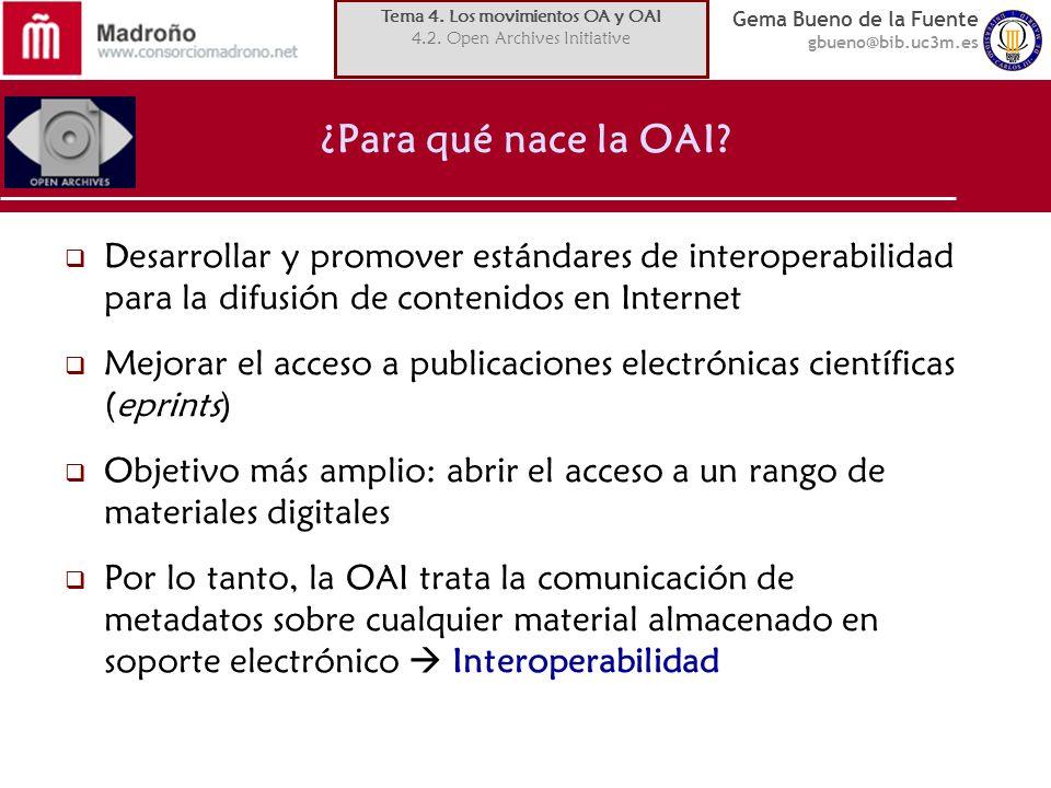 Tema 4. Los movimientos OA y OAI