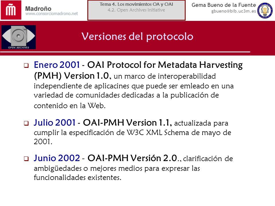 Versiones del protocolo