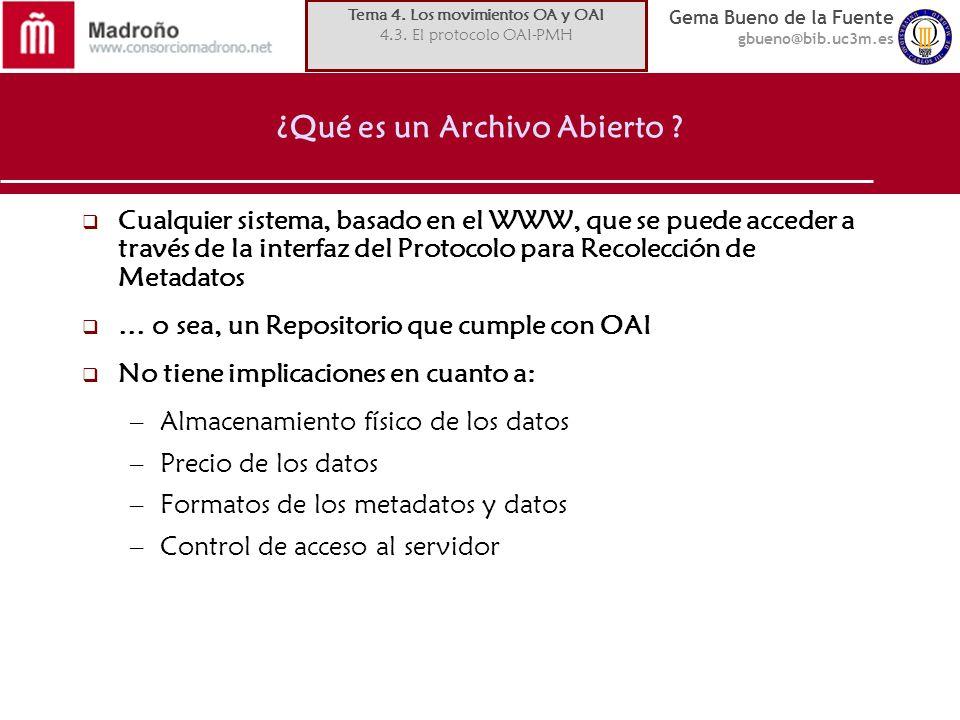 ¿Qué es un Archivo Abierto