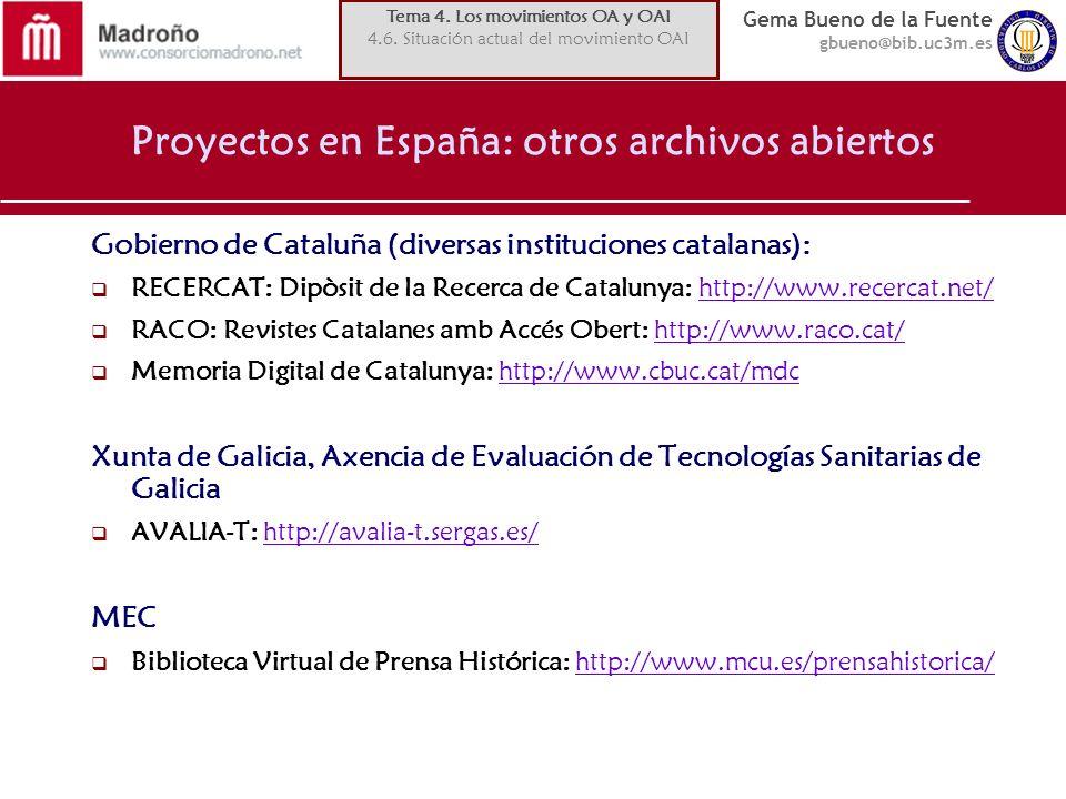 Proyectos en España: otros archivos abiertos