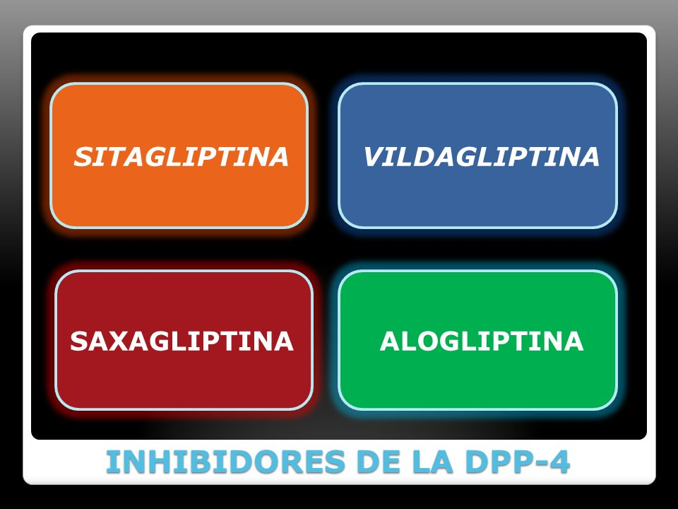 INHIBIDORES DE LA DPP-4 SITAGLIPTINA VILDAGLIPTINA SAXAGLIPTINA