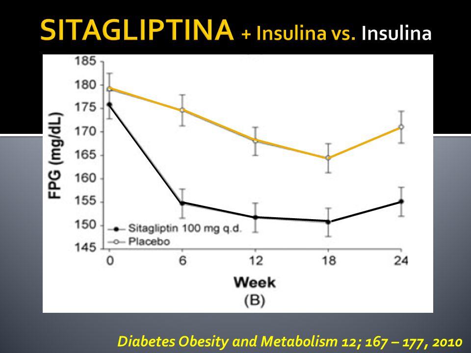SITAGLIPTINA + Insulina vs. Insulina