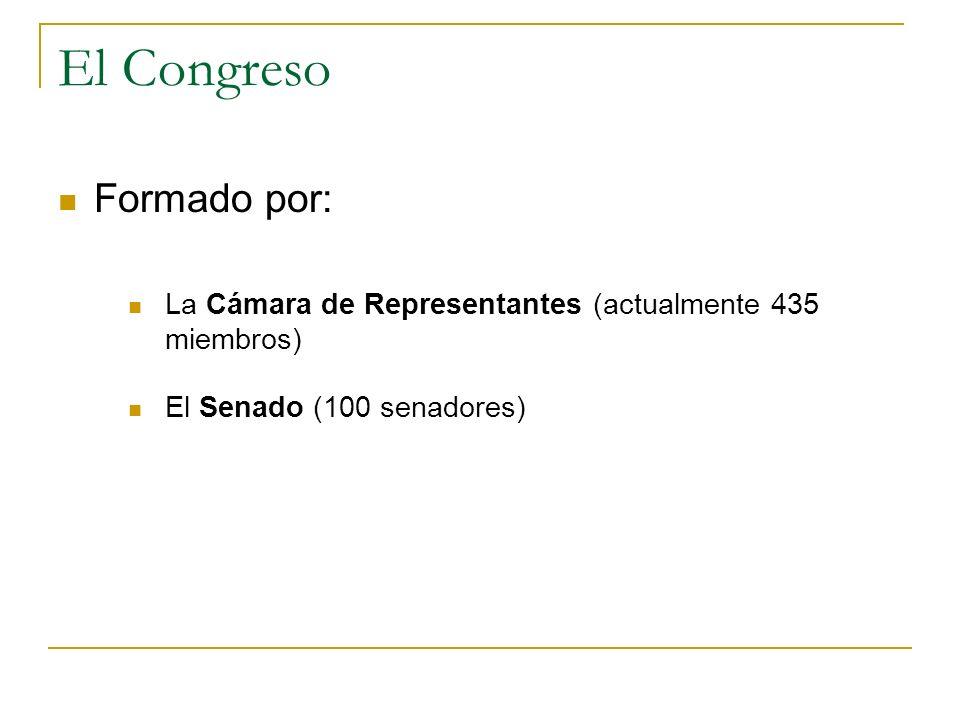 El Congreso Formado por: