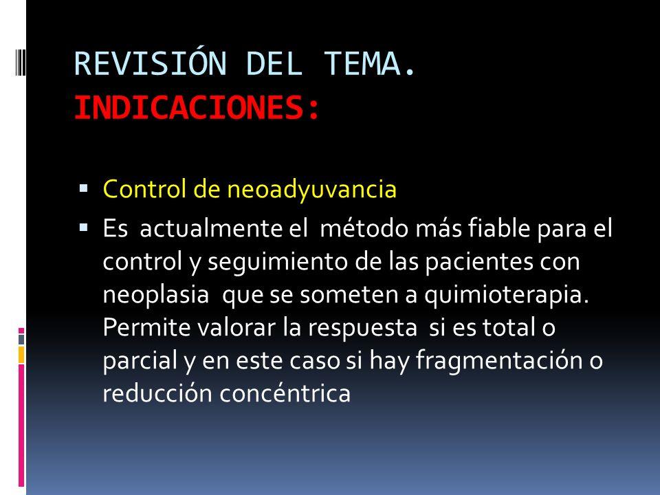 REVISIÓN DEL TEMA. INDICACIONES: