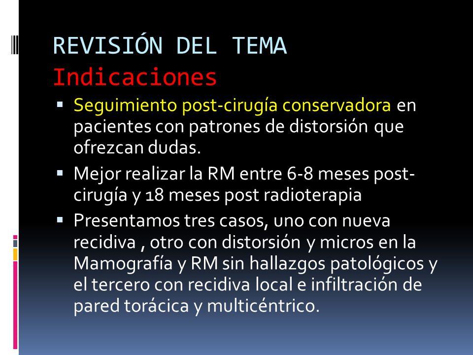 REVISIÓN DEL TEMA Indicaciones