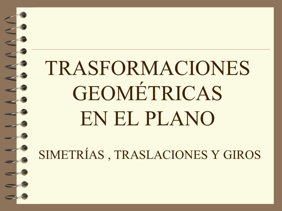 TRASFORMACIONES GEOMÉTRICAS EN EL PLANO