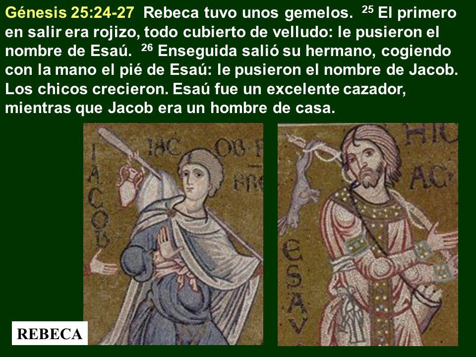 Génesis 25:24-27 Rebeca tuvo unos gemelos