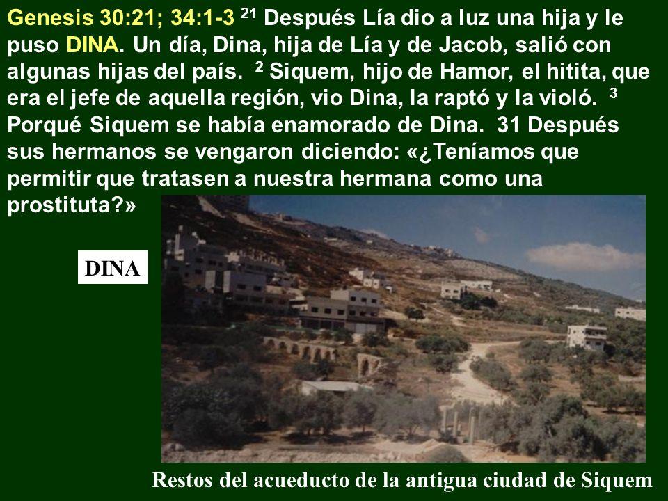 Genesis 30:21; 34:1-3 21 Después Lía dio a luz una hija y le puso DINA