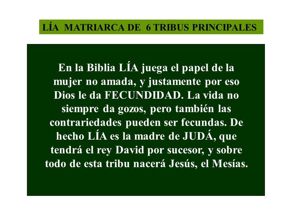 LÍA MATRIARCA DE 6 TRIBUS PRINCIPALES