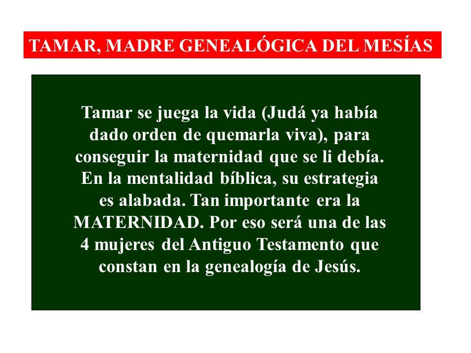 TAMAR, MADRE GENEALÓGICA DEL MESÍAS