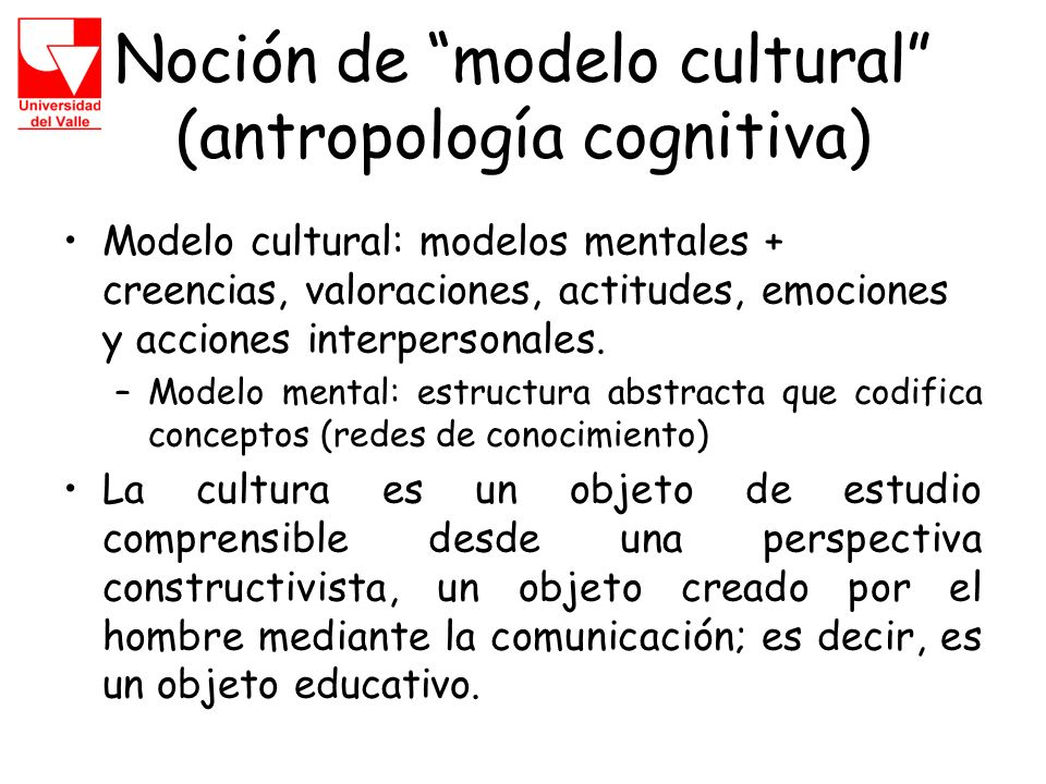 Noción de modelo cultural (antropología cognitiva)