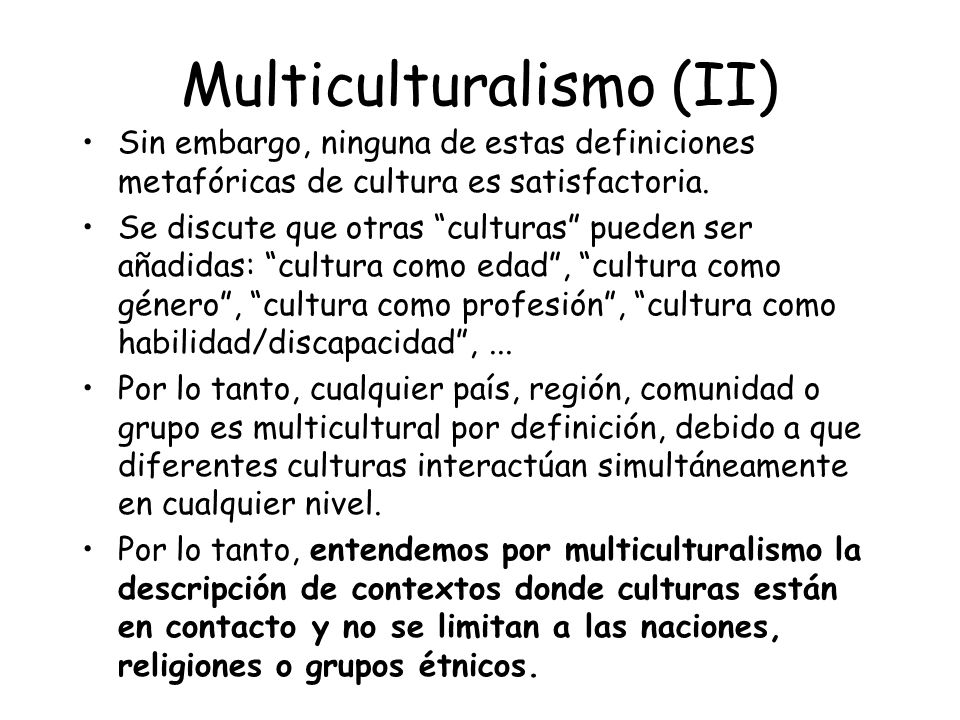 Multiculturalismo (II)
