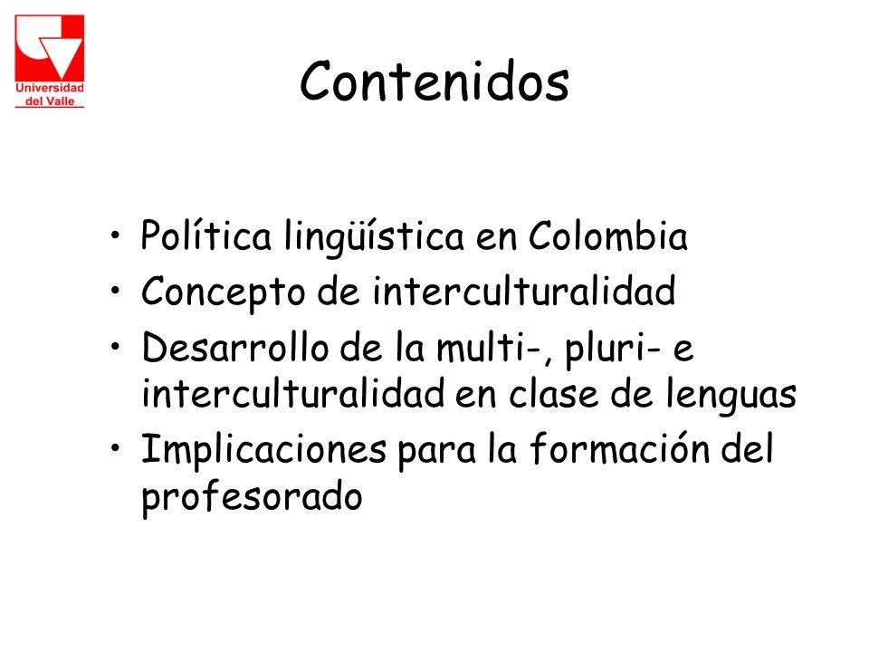 Contenidos Política lingüística en Colombia
