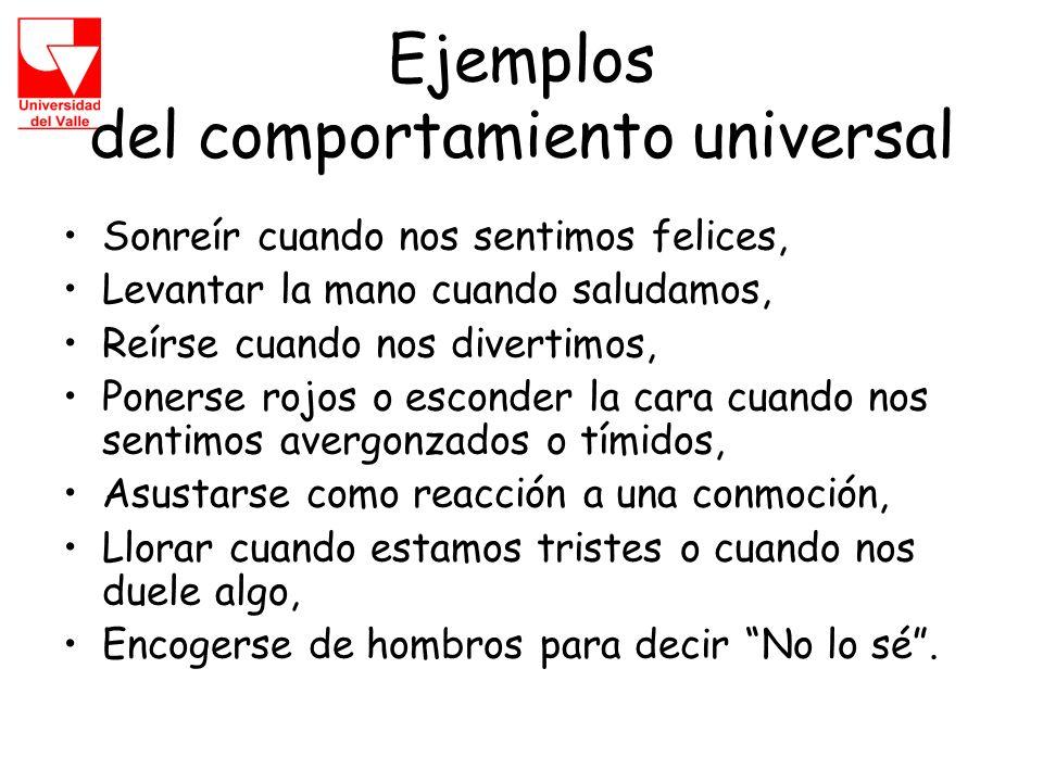 Ejemplos del comportamiento universal
