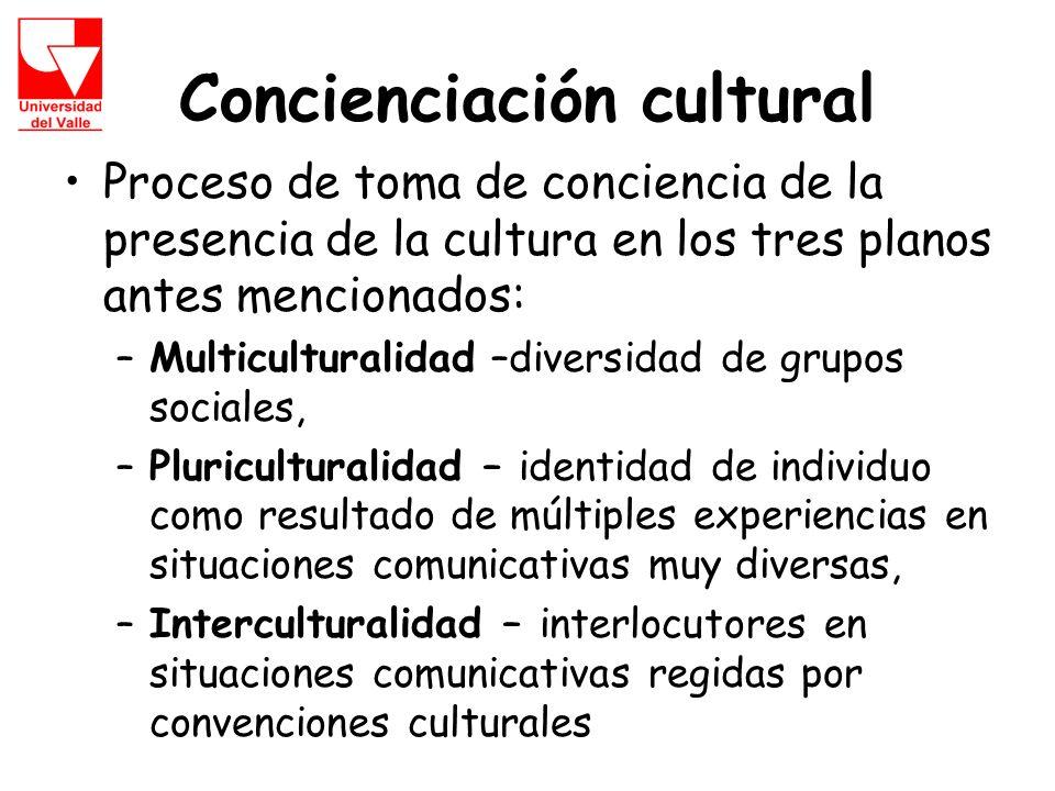 Concienciación cultural