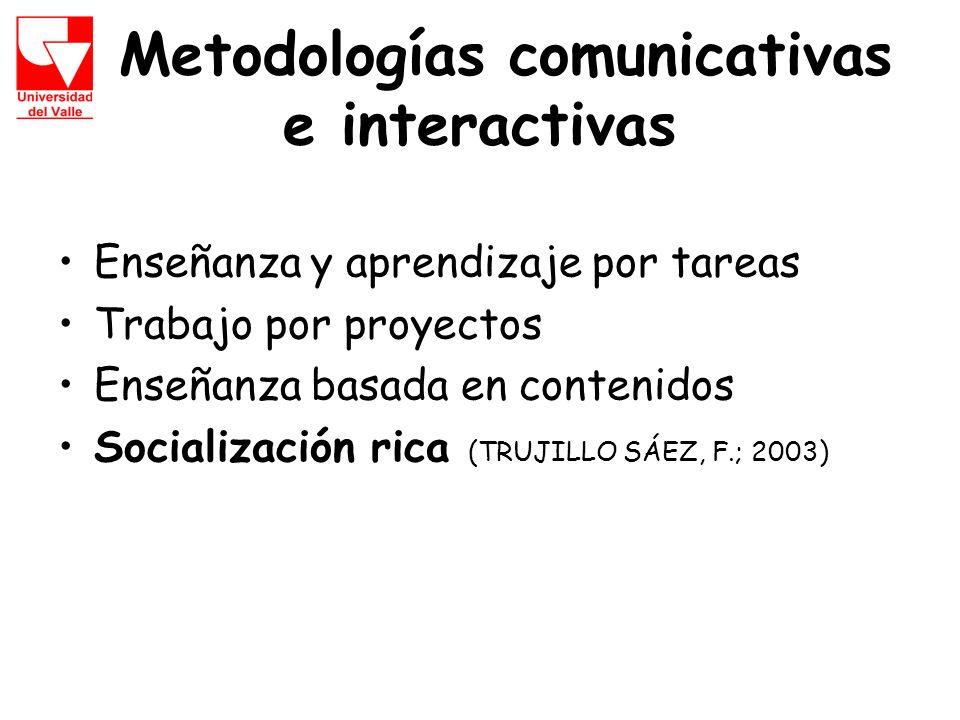 Metodologías comunicativas e interactivas