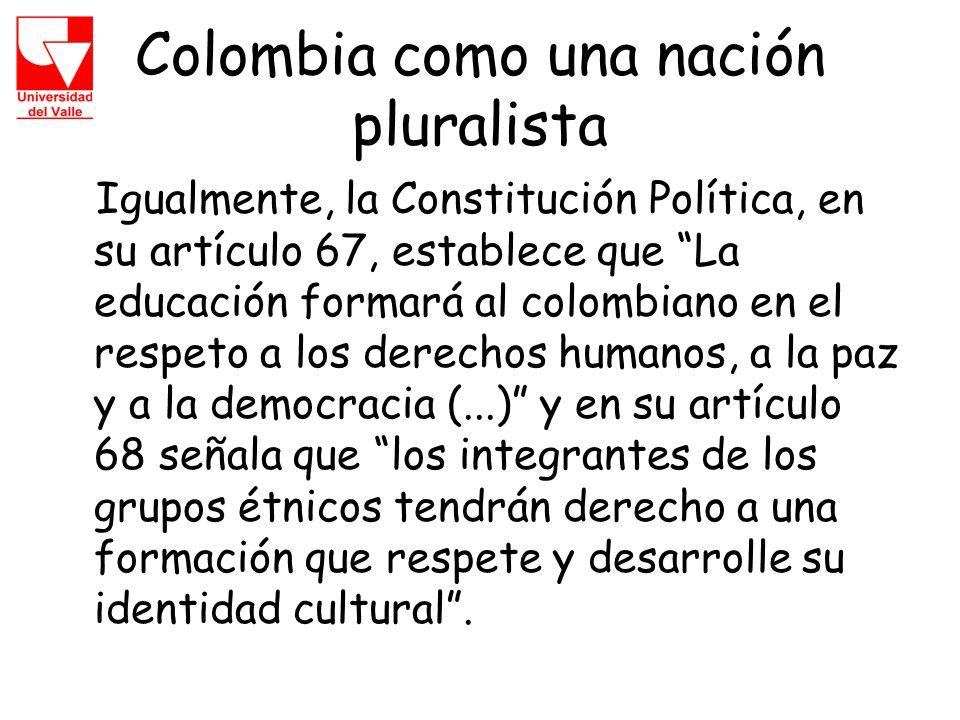 Colombia como una nación pluralista