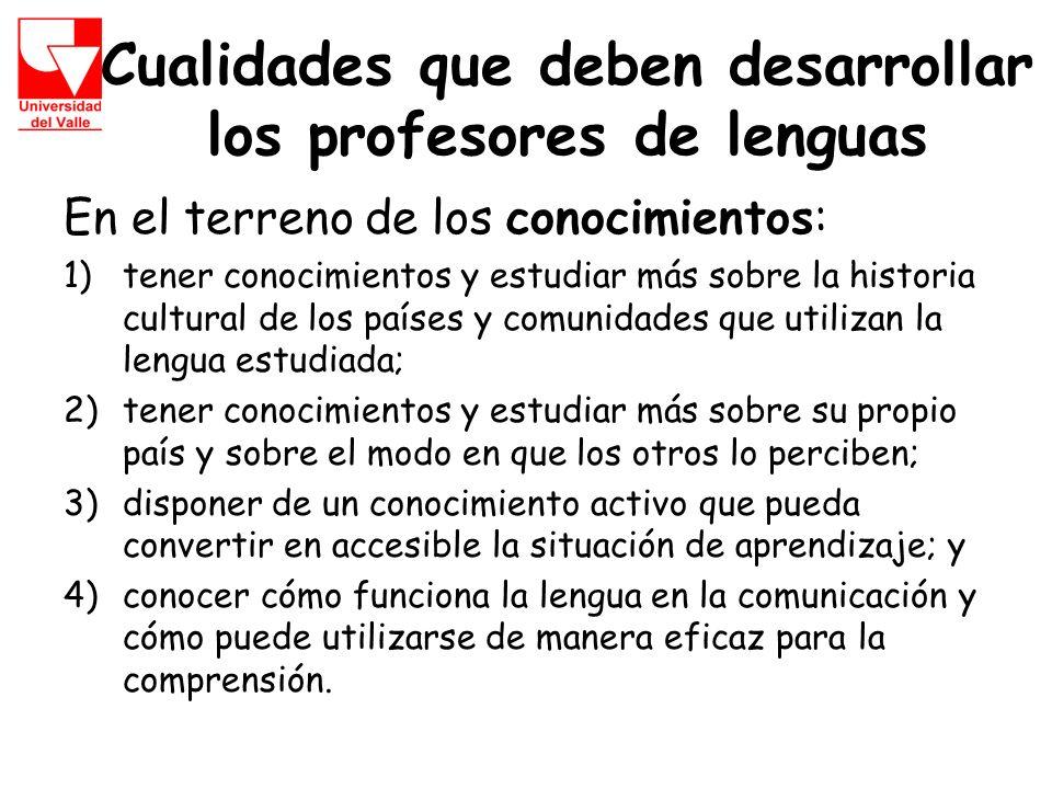 Cualidades que deben desarrollar los profesores de lenguas