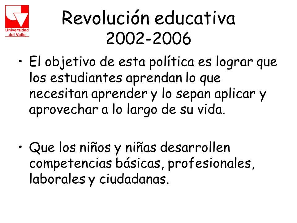 Revolución educativa 2002-2006