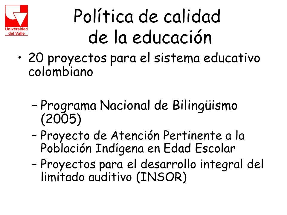 Política de calidad de la educación