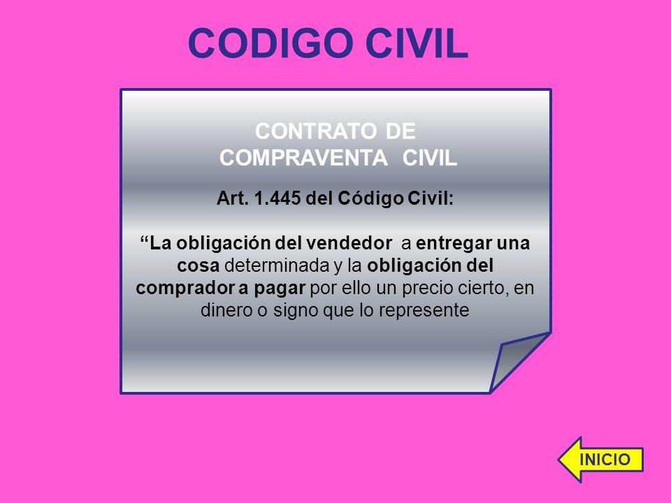 CODIGO CIVIL CONTRATO DE COMPRAVENTA CIVIL