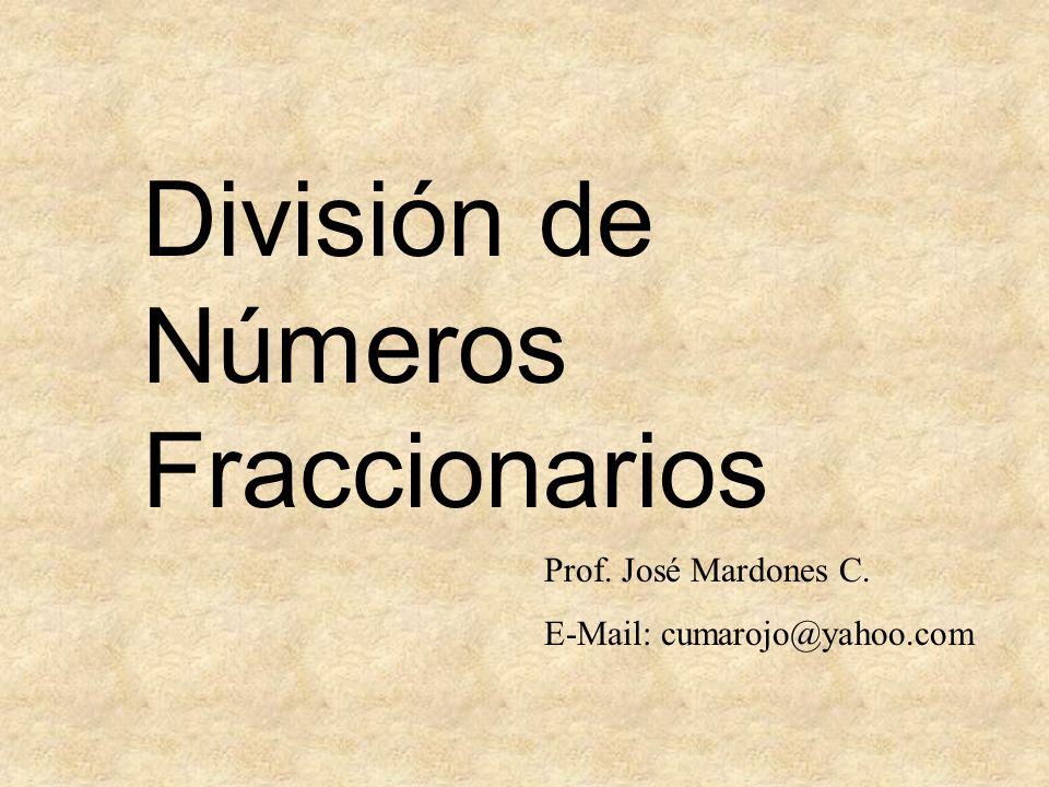 División de Números Fraccionarios