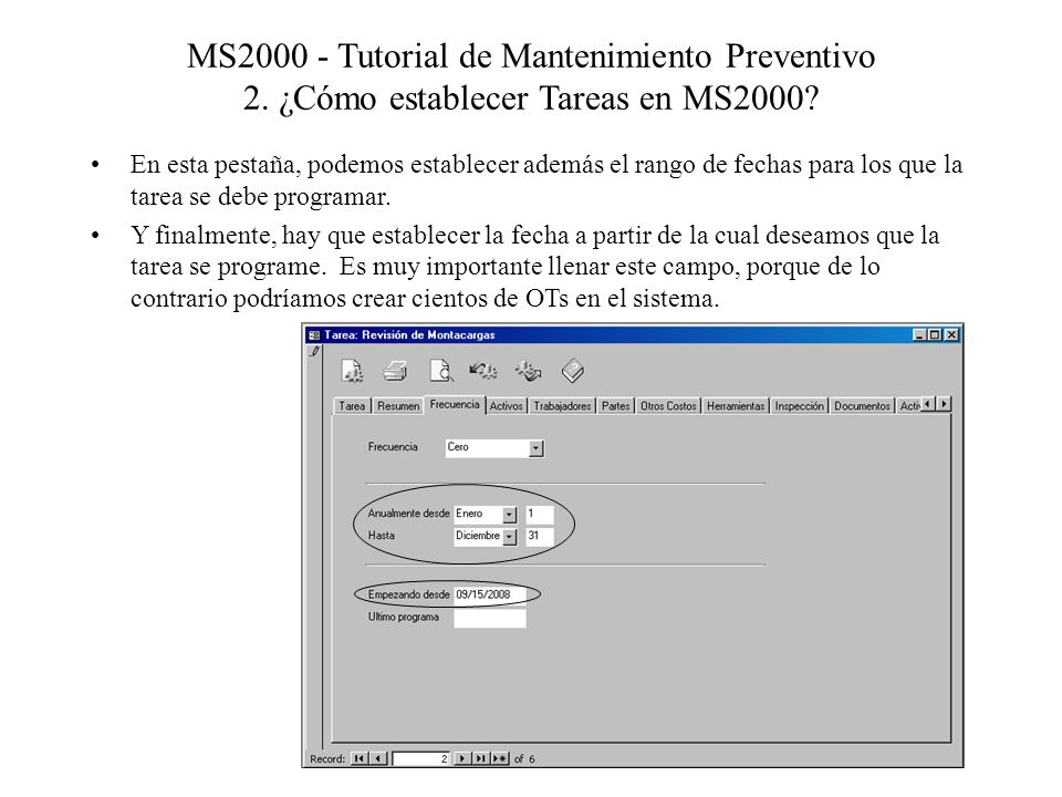 MS2000 - Tutorial de Mantenimiento Preventivo