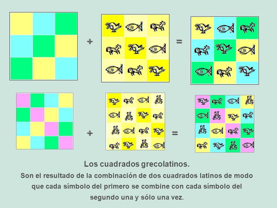 Los cuadrados grecolatinos.