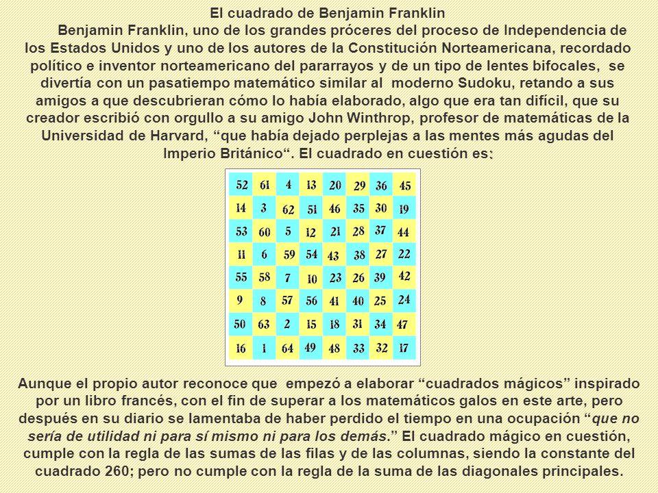 El cuadrado de Benjamin Franklin