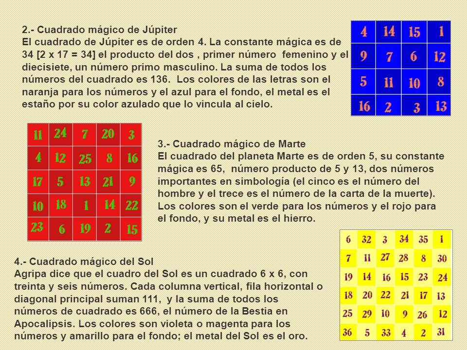 2.- Cuadrado mágico de Júpiter