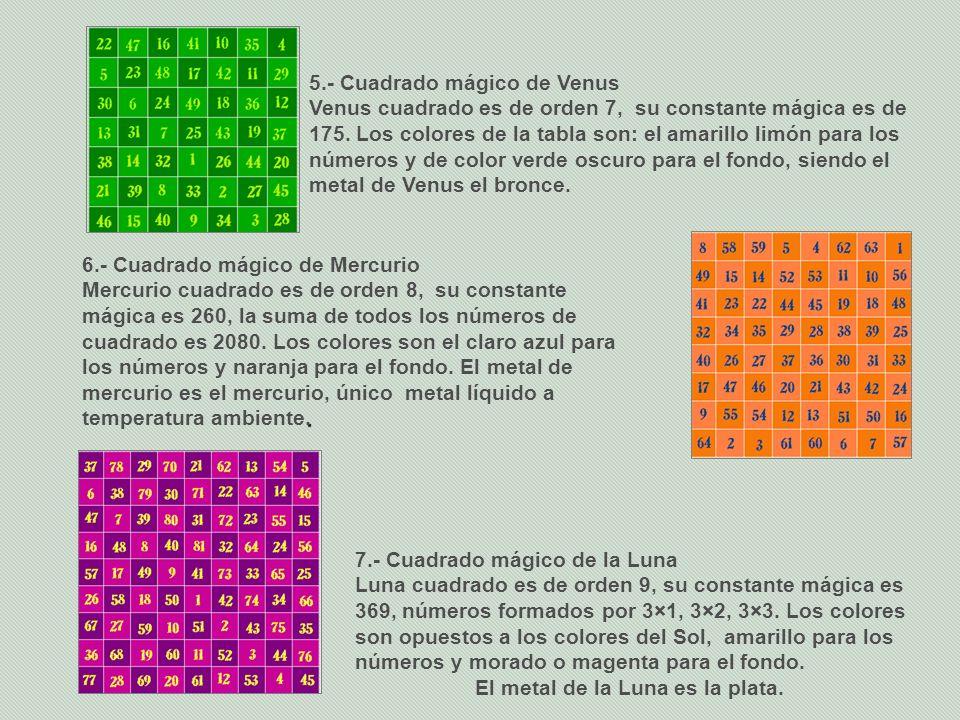 5.- Cuadrado mágico de Venus