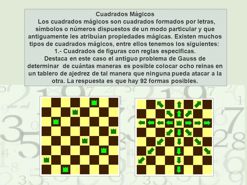 1.- Cuadrados de figuras con reglas especificas.