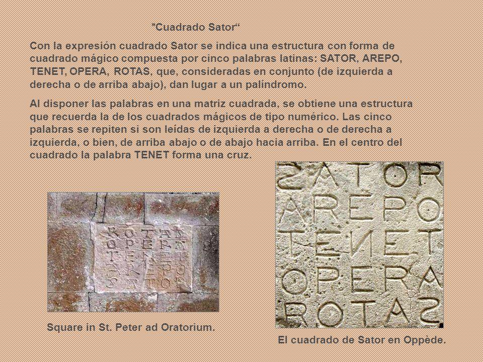 Square in St. Peter ad Oratorium.