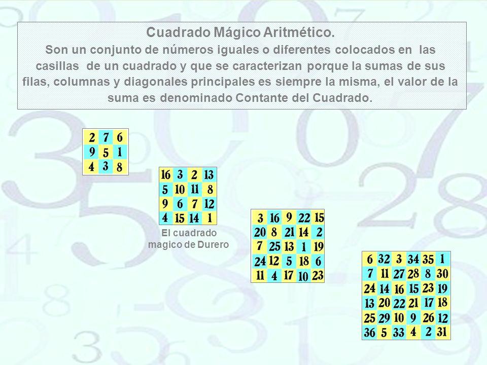 Cuadrado Mágico Aritmético. El cuadrado magico de Durero