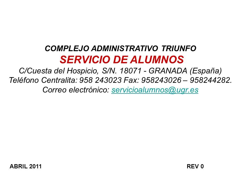 COMPLEJO ADMINISTRATIVO TRIUNFO SERVICIO DE ALUMNOS