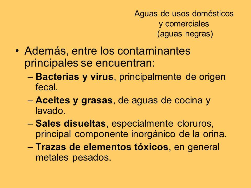 Aguas de usos domésticos y comerciales (aguas negras)
