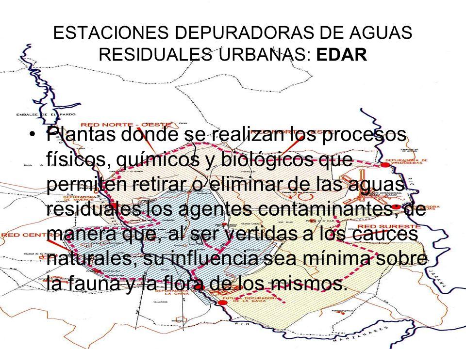 ESTACIONES DEPURADORAS DE AGUAS RESIDUALES URBANAS: EDAR