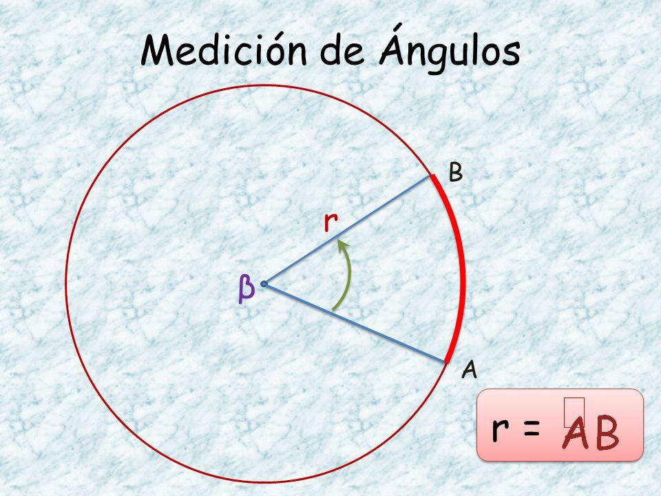 Medición de Ángulos B r β A r =