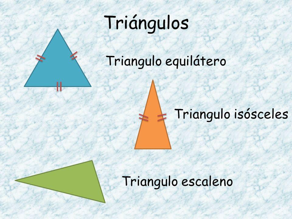 Triángulos Triangulo equilátero Triangulo isósceles Triangulo escaleno