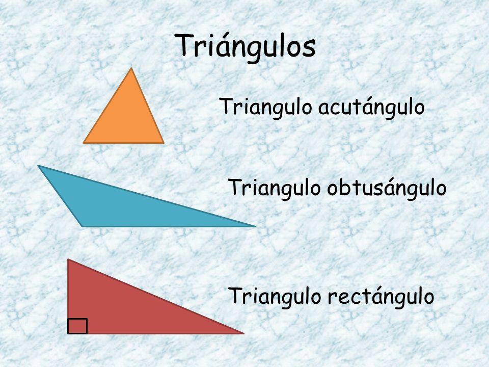 Triángulos Triangulo acutángulo Triangulo obtusángulo