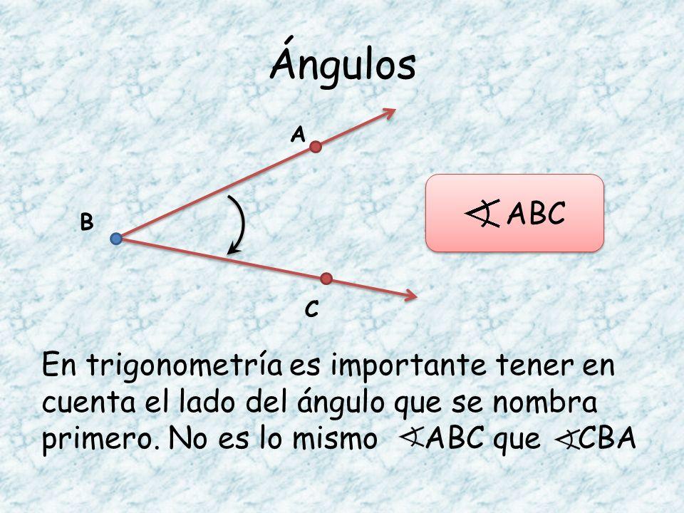 Ángulos A. ABC. B. C.