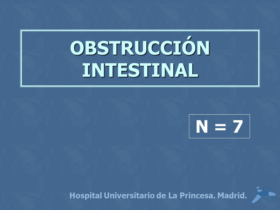 OBSTRUCCIÓN INTESTINAL