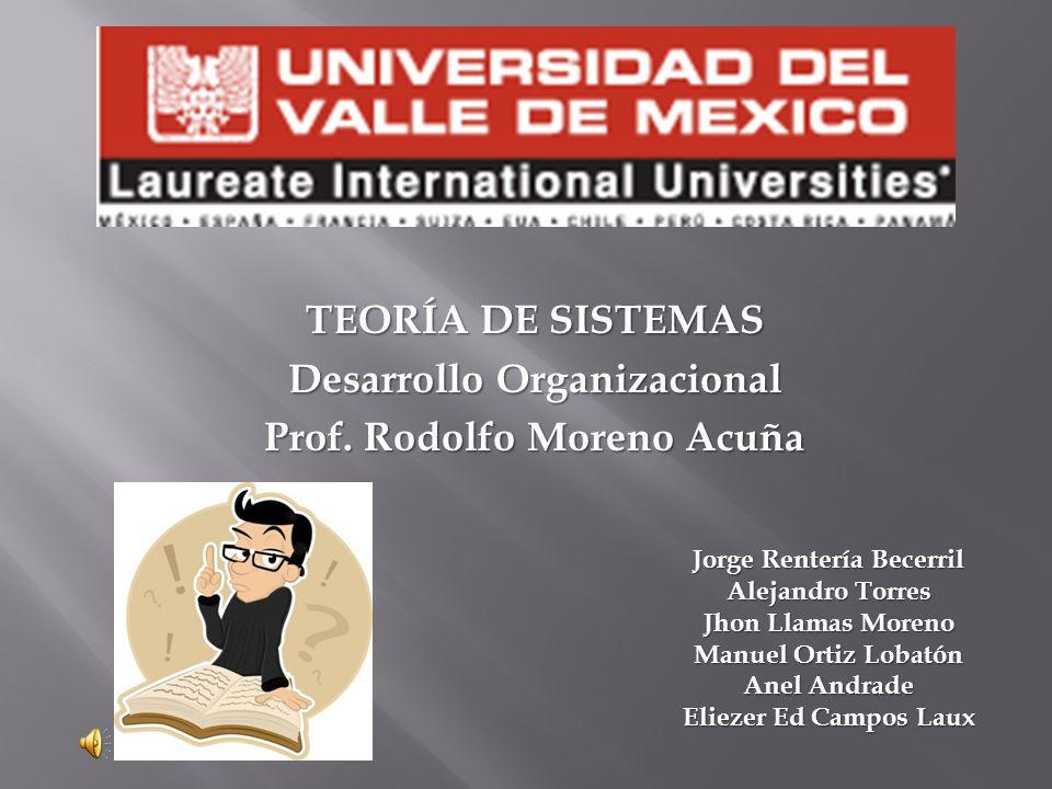 Desarrollo Organizacional Prof. Rodolfo Moreno Acuña