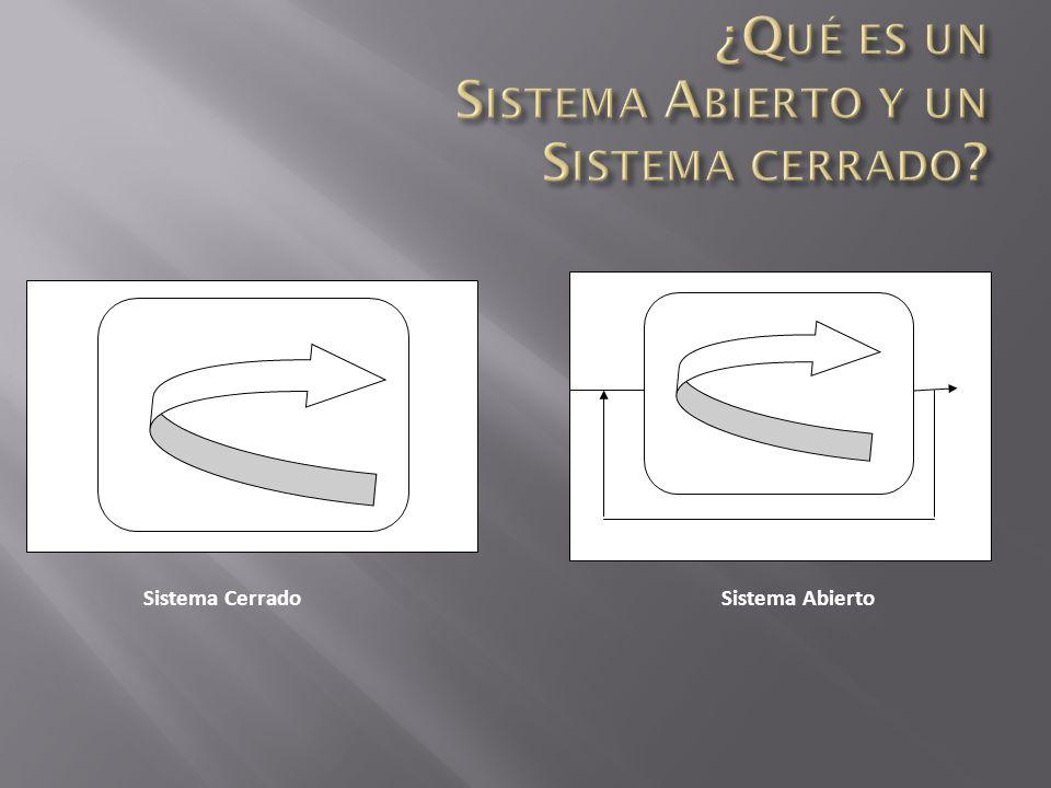 ¿Qué es un Sistema Abierto y un Sistema cerrado