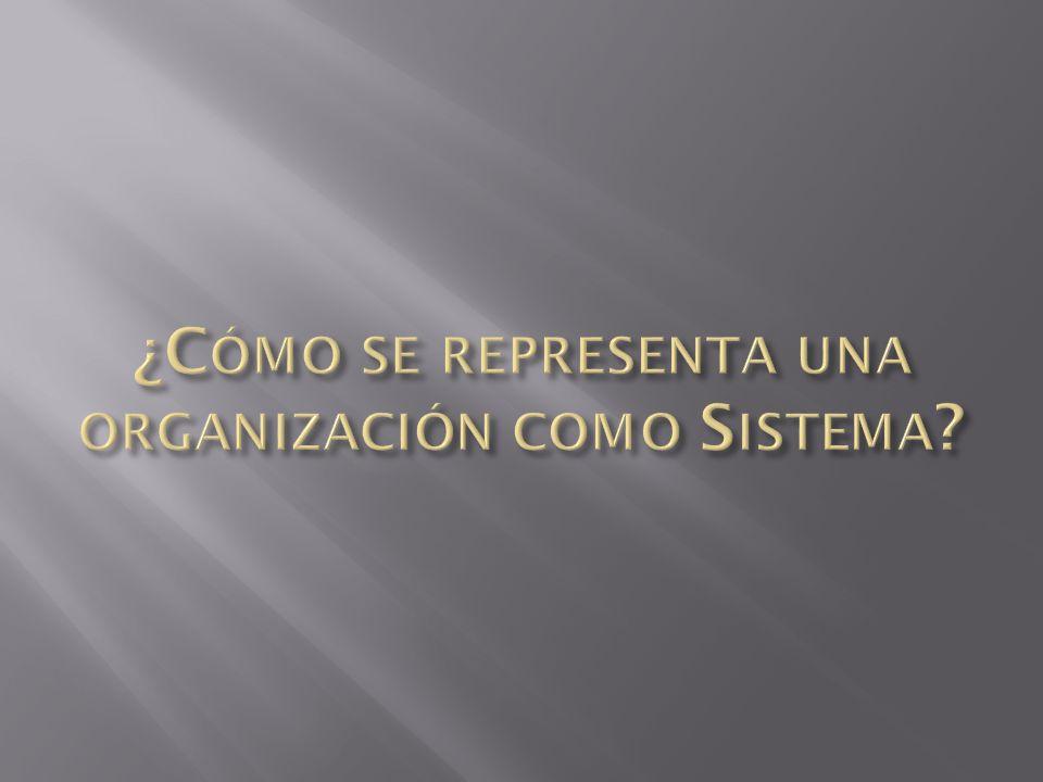 ¿Cómo se representa una organización como Sistema
