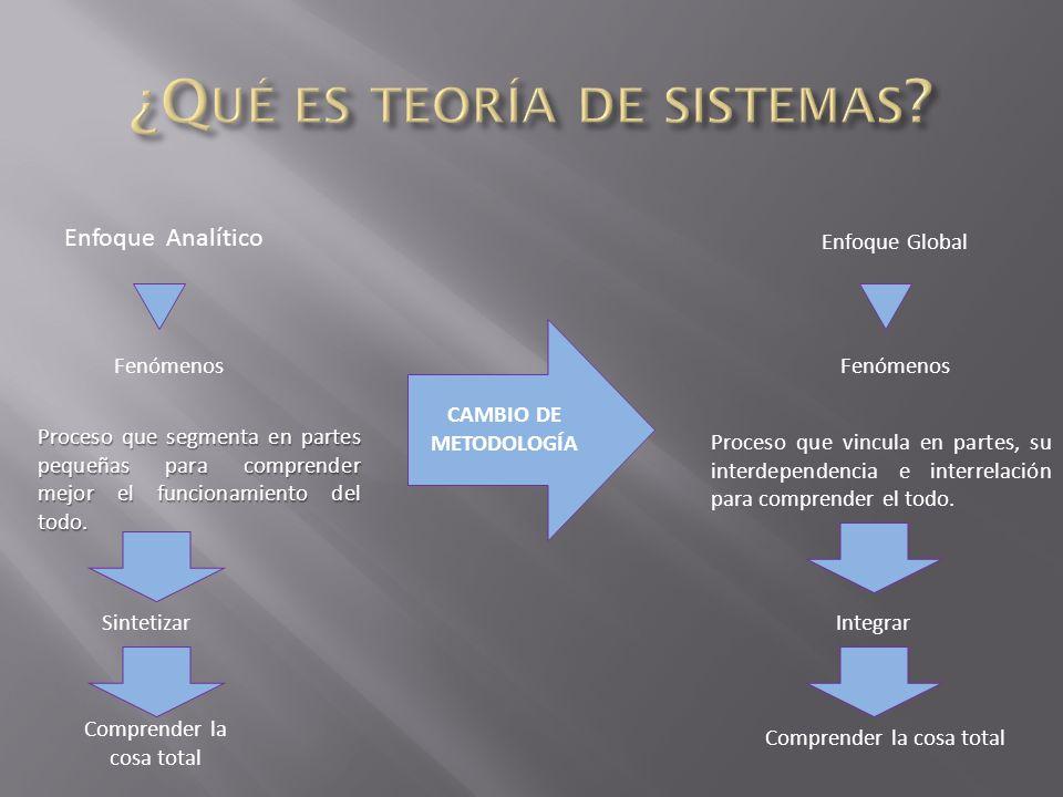 ¿Qué es teoría de sistemas