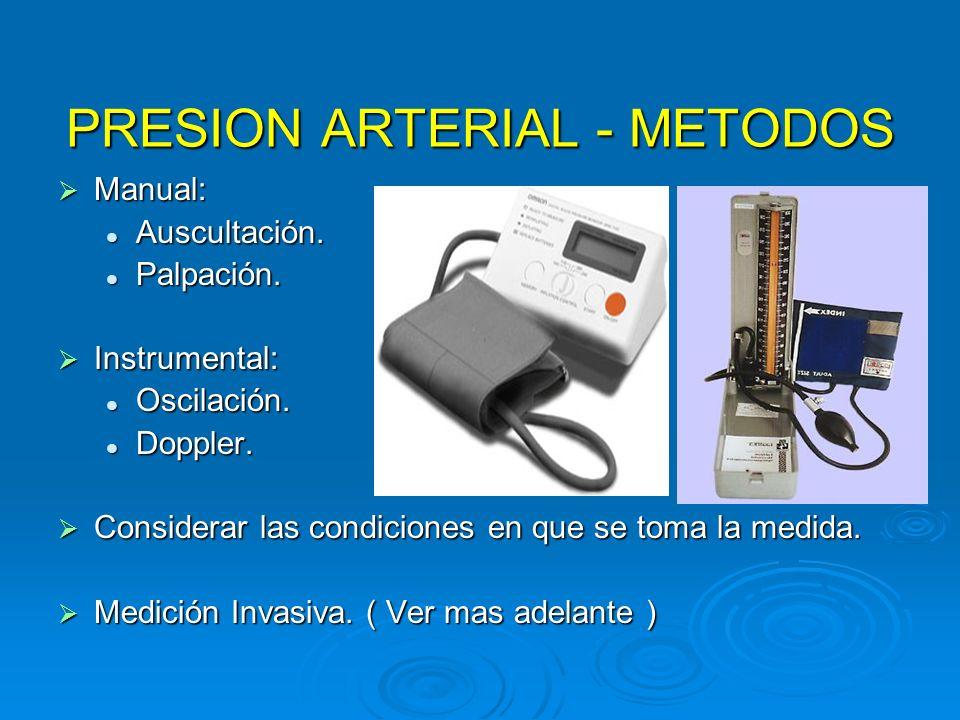 PRESION ARTERIAL - METODOS