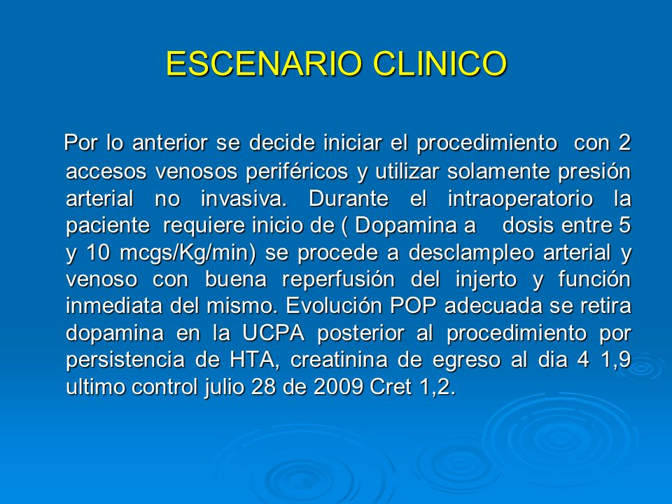ESCENARIO CLINICO