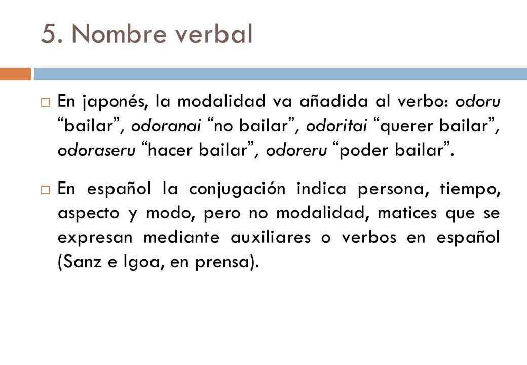 5. Nombre verbal