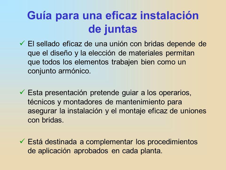 Guía para una eficaz instalación de juntas